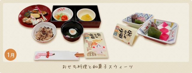 おせち料理と和菓子スウィーツ